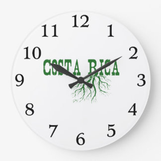 Costa Rica Roots Large Clock
