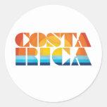 Costa Rica Round Stickers