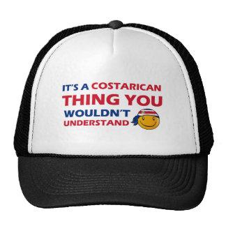 Costa Rica Smiley Designs Mesh Hats