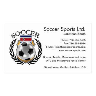 Costa Rica Soccer 2016 Fan Gear Pack Of Standard Business Cards