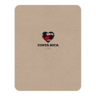 Costa Rica Soccer Shirt 2016 11 Cm X 14 Cm Invitation Card