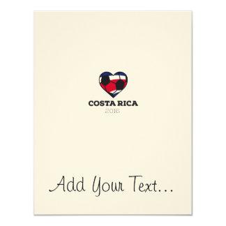 Costa Rica Soccer Shirt 2016 11 Cm X 14 Cm Invitation Card