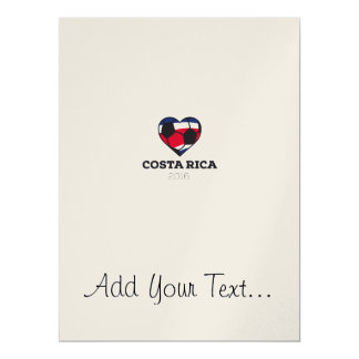 Costa Rica Soccer Shirt 2016 17 Cm X 22 Cm Invitation Card