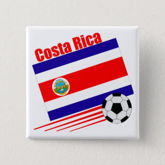Costa Rica Soccer Team 15 Cm Square Badge