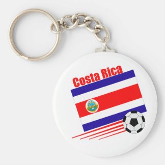 Costa Rica Soccer Team Basic Round Button Key Ring