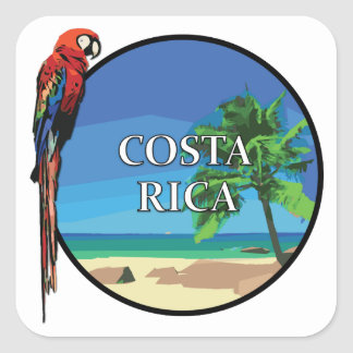 Costa Rica - Square Stickers, Glossy Square Sticker