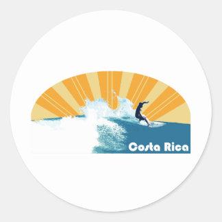 Costa Rica Surf Classic Round Sticker