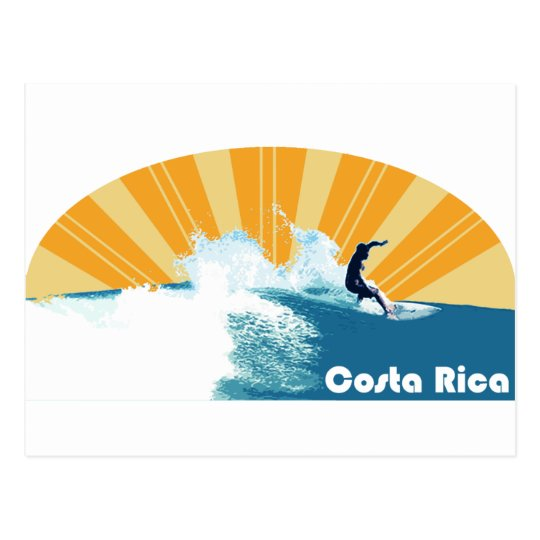 Costa Rica Surf Postcard