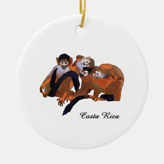 Costa Rica Titi Monkey Christmas Ornament