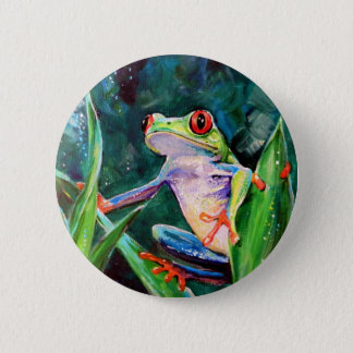 Costa Rica Tree Frog 6 Cm Round Badge