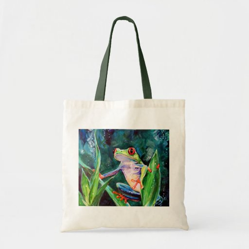 Costa Rica Tree Frog Canvas Bag