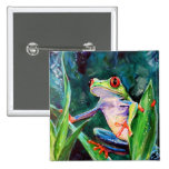 Costa Rica Tree Frog Pinback Button