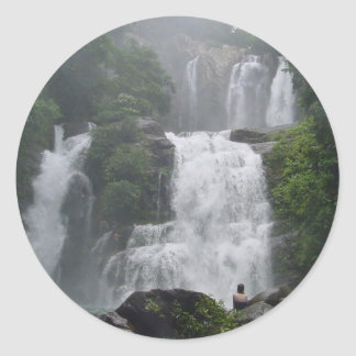 Costa Rica Waterfalls Classic Round Sticker