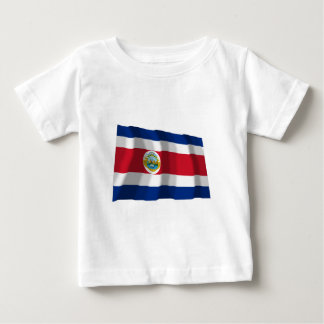 Costa Rica Waving Flag Baby T-Shirt