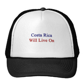 Costa Rica Will Live On Hats