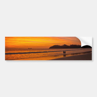 Costa Rican couple at sunset Bumper Sticker