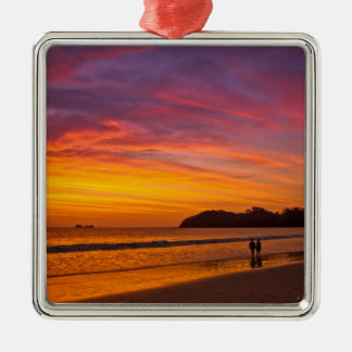 Costa Rican couple at sunset Christmas Ornament