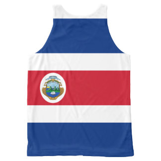 Costa Rican flag All-Over Print Tank Top