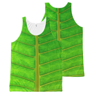 Costa Rican Leaf Tank Top All-Over Print Tank Top