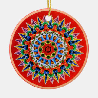 Costa Rican Oxcartwheel Round Ceramic Decoration