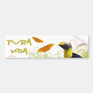 Costa Rican Pura Vida Toucan Bumper Sticker