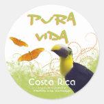 Costa Rican Pura Vida Toucan Stickers