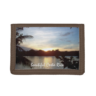 Costa Rican Sunset - Tortuguero Evening Trifold Wallets