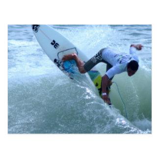 Costa Rican Surfing Postcard
