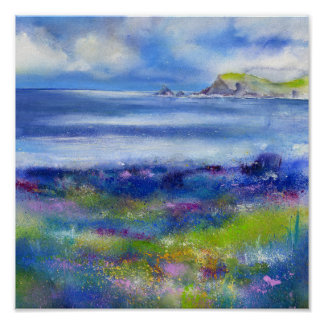 Costal Spring Cornwall Poster