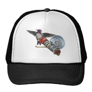 Costas Hummingbird at the Bird Feeder Trucker Hats