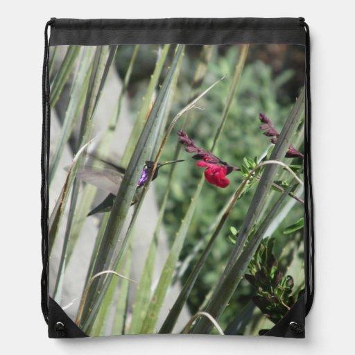 Costa's Hummingbird Drawstring Backpack