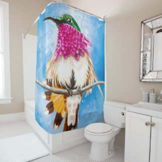 Costa's Hummingbird Shower Curtain