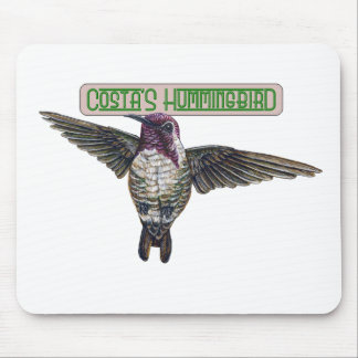Costas Hummingbird with Banner Mousepads