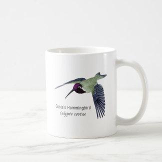 Costa's Hummingbird with Name Coffee Mug