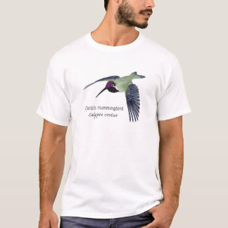 Costa's Hummingbird with Name T-Shirt