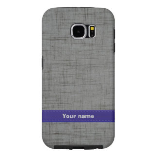 Costum Grey/Blue Leather Samsung Galaxy S6 Cases