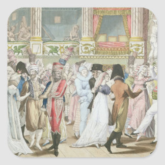 Costume Ball at the Opera, after 1800 Square Sticker