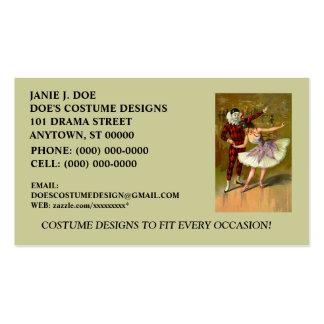 COSTUME BOUTIQUE COSTUME DESIGNER BUSINESS CARD