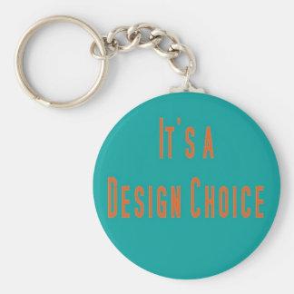 Costume Design Basic Round Button Key Ring
