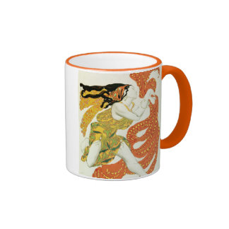 Costume design for a bacchante in Narcisse Mugs