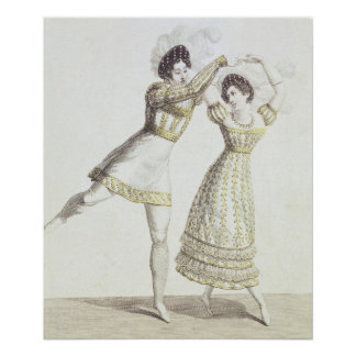 Costume design for a ballet poster