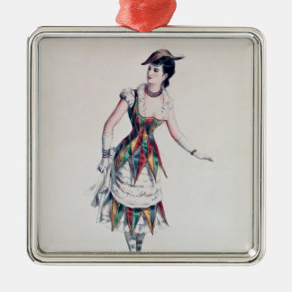 Costume design for a female harlequin, c.1880 christmas ornament
