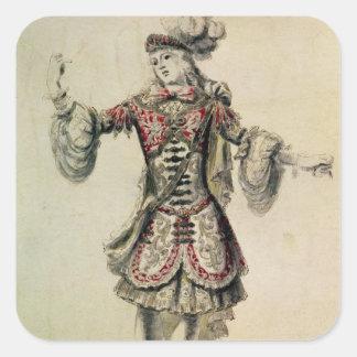 Costume design for a male dancer, c.1681 square sticker