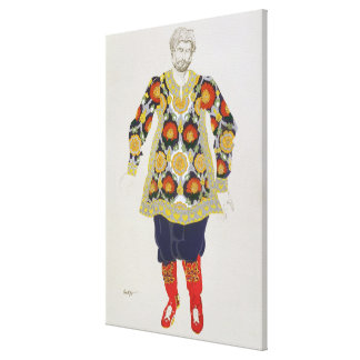 Costume design for a man, from Sadko, 1917 (colour Canvas Print