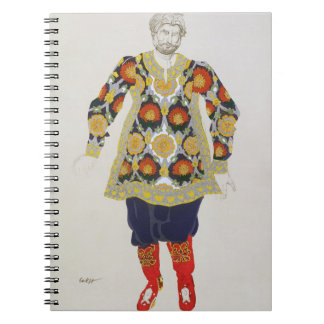 Costume design for a man, from Sadko, 1917 (colour Note Book