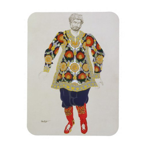 Costume design for a man, from Sadko, 1917 (colour Vinyl Magnets