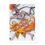 Costume design for a pas de deux danced at the ope postcard