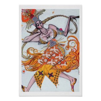 Costume design for a pas de deux danced at the ope poster
