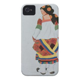 Costume design for a Peasant Girl, 1922 (colour li iPhone 4 Case-Mate Case