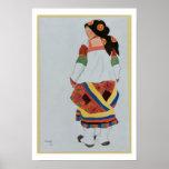 Costume design for a Peasant Girl, 1922 (colour li Poster